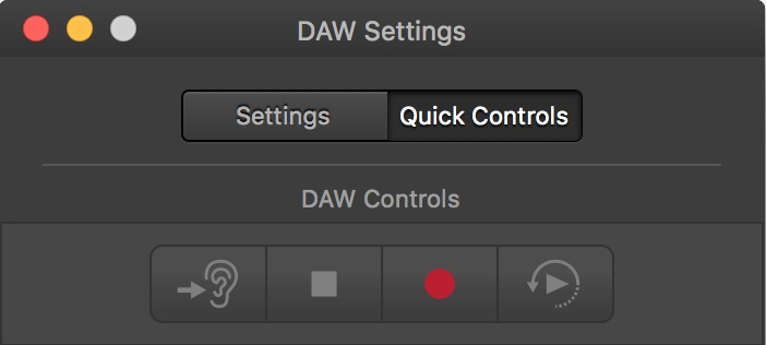 Video Slave 3 - DAW Settings Window - QuickControls 1
