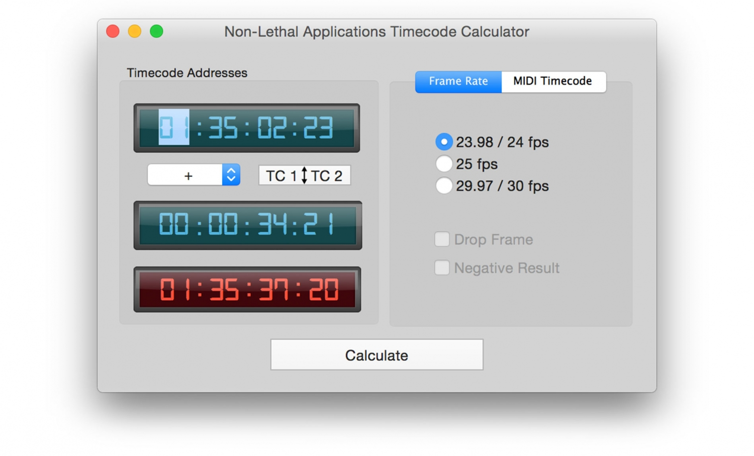 timecode-calculator